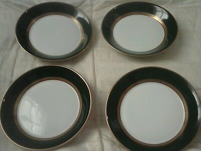 Set 4 Fitz & Floyd RENAISSANCE DARK GREEN Fruit Dessert (Sauce) Bowls excellent