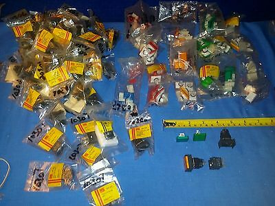 switches, momentary, dpdt, 16mm, rectangular tops red, green,blue, white, amber