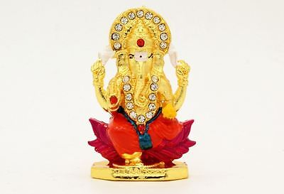 Ganesh Metal Show Piece Small Statue for Car Dash Board Gift Item