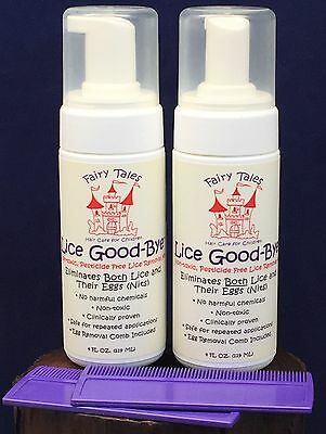 Lot of 2 Fairy Tales Lice Good-Bye Lice Removal Kit Non-Toxic Pesticide Free