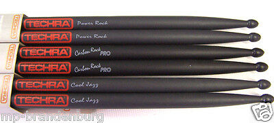 Drum Sticks Techra Carbon Trommelstöcke Carbon Power Rock