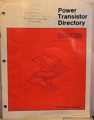 Vintage Catalogue - RCA Power Transistor Directory 1975 - 44 pages