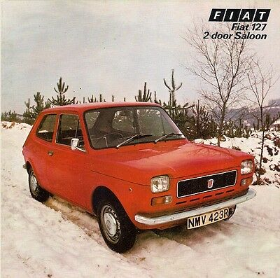 Fiat 127 2-dr Saloon Late 1976 UK Market Foldout Sales Brochure