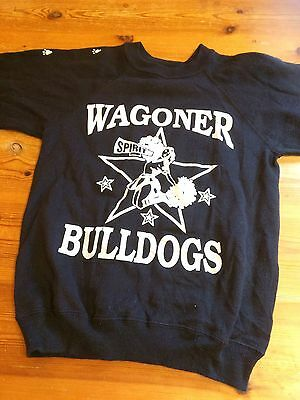 Vintage Wagoner Bulldogs 80's/90's Navy Sweatshirt with Morgan On The Back M