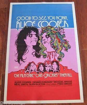 Alice Cooper GOOD TO SEE YOU AGAIN 1974 FULL-SIZE THEATRE LOBBY POSTER 100% NEW