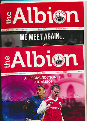 Stirling Albion v Rangers - 12 Oct 2012 with teamsheet and 26 February 2013