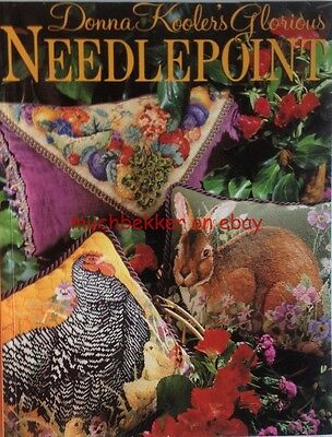 Donna Kooler's Glorious Needlepoint Book ~ Hen Chicks, Bunny, Christmas projects