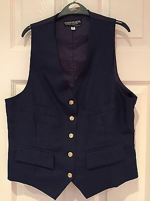 Equetech Waistcoat Navy Ladies Size 38