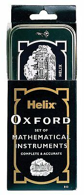 Helix Oxford Geometry Maths Set Back To School 9 Pieces Mathematical Instruments