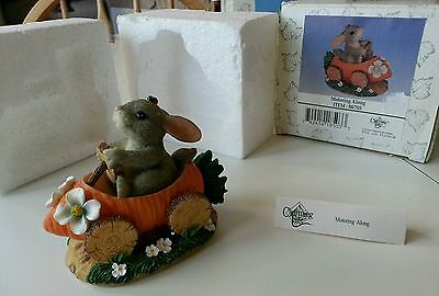 Retired Charming Tails Motoring Along 88/703 carrot car bunny rabbit figurine
