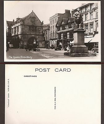 Vintage Postcard- New. The Square,Shrewsbury,Shropshire. RP