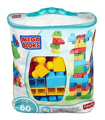 Mega Bloks First Builders Classic Buildable Bag 60 Blocks/Pieces - Ages 1+