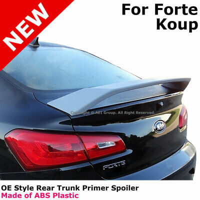 UNPAINTED PRIMED REAR WING SPOILER FOR A KIA FORTE 2 DOOR COUPE 2014-2018