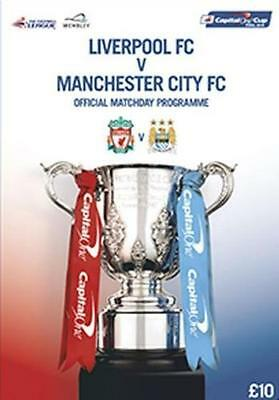 2016 Capital One Cup Final Liverpool v Manchester City programme