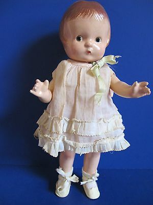"""Effanbee Patsy Jr. 1928, All Original Composition Doll, 11"""", With Outfit, NICE!"""