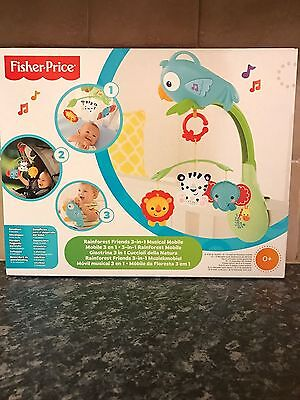 Fisher Price Rainforest Friends 3-in-1 Musical Mobile (BRAND NEW) FREE POST