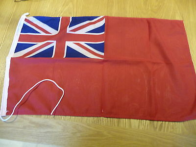 Red ensign Flag 68cmx40cm stitched cotton edge,good size
