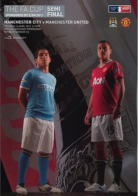 MANCHESTER CITY v MANCHESTER UTD FA CUP SEMI-FINAL 2011 Programme
