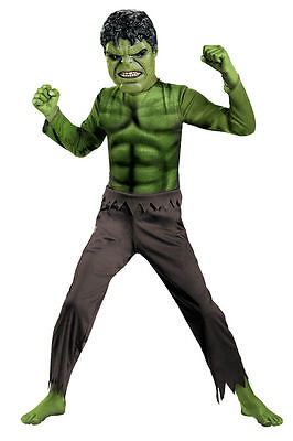 Childrens Boys Superheroes Hulk Avengers Basic Fancy Dress Costume - Ch 7/8