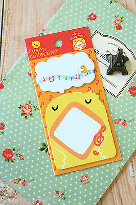 CHICK Fusen Collection Animal Sticky Notes kawaii animal shapes post-it note pad