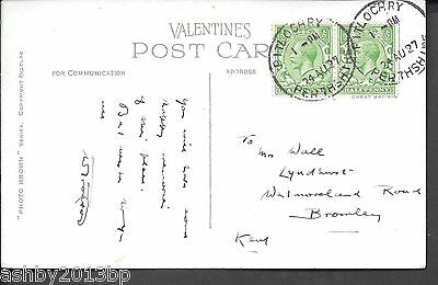 Scotland 1927 Ppc To Kent Pitlochry Skeleton Cds