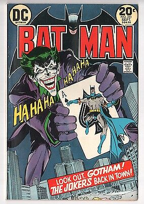 Batman #251 (1940 Series) Neal Adams Joker Story Sep 1973 FN