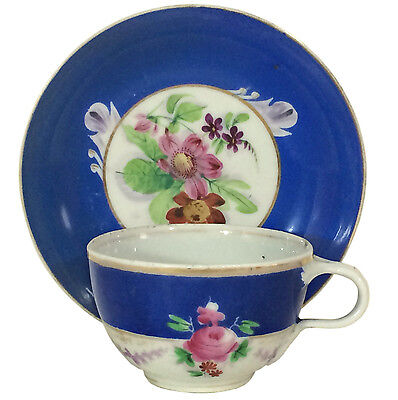 19th Century Alexander Gardner Imperial Russian Porcelain Cup & Saucer #2