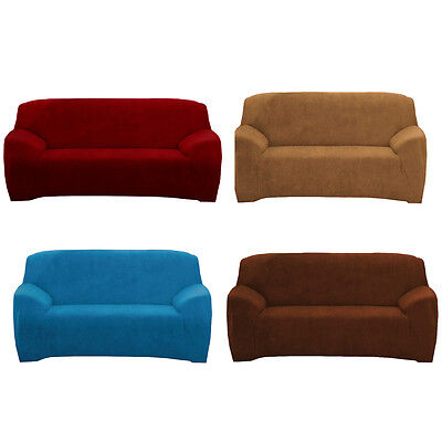 4-way Super Fit Easy Install Sofa Couch Cover Softer Stretch Slipcover 2 Seater