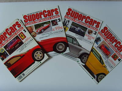 The Encyclopedia of Super Cars 1, 2, 3 and 4