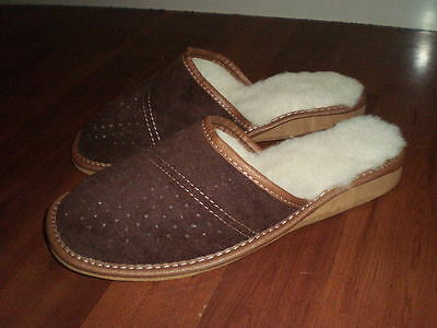 Brand New Womens Leather Warm Winter Slippers Size 5/38. -