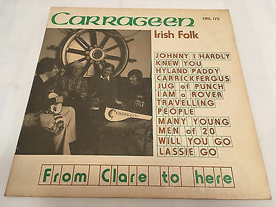 CARRAGEEN - From Clare To Here - 1979 HOMESPUN LP