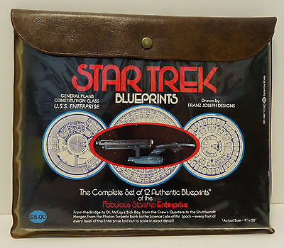 Star Trek Blueprints 1975 Complete Set of 12