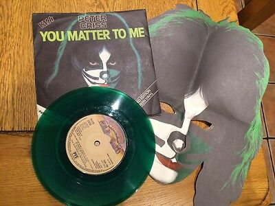 Peter Criss Of Kiss- You Matter To Me Green Vinyl 45 + Mint Mask