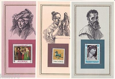 ARTISTS PAINTERS 28 Large Cards with Information & Stamps
