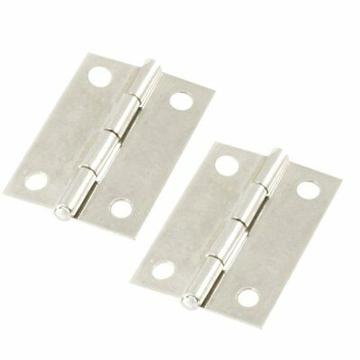 "2x 1.5"" Long Stainless Steel Butt Hinges Metal Silver Cabinet Drawer Door Small"