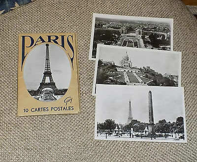 Vintage Retro Collections 1950/60s French Paris Postcards in Presentation Folder