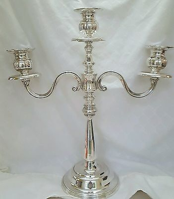 Silverplate 3 Candle Candelabra