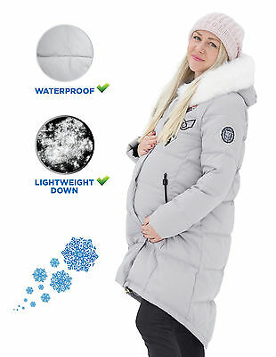 Maternity Winter Jacket, Down Coat for Pregnant Women to keep the belly warm