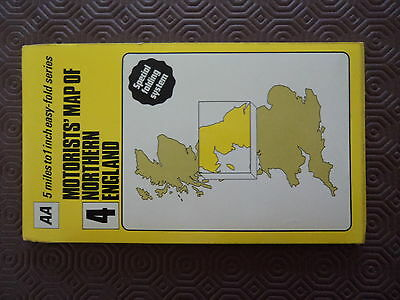 AA Map Northern England 1981 Special folding Print 2 sides Liverpool Prestwick