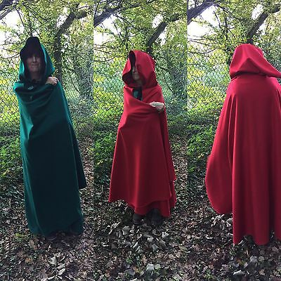 Black Melton wool Cloak