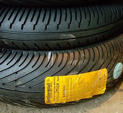 Continental wet tyres 180 55 17 / 120 70 17
