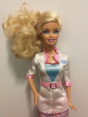 Mattel Barbie Doll Blonde in Pink, Blue and White Doctor Dress w/ Shoes
