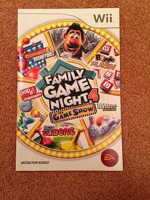 Manual Only - Family Game Night 4: The Game Show - Wii