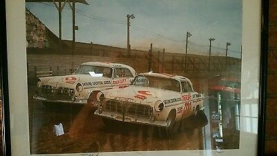 The Migthy Three-Hundred by D. McCrary - Vintage Nascar Print 24/750 Signed