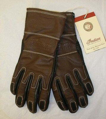Indian Motorcycle Two Tone Leather Glove - Brown/Black NWT