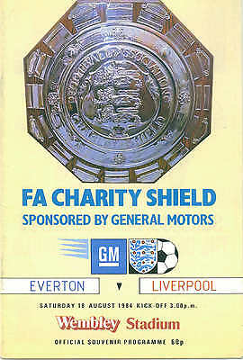 Liverpool Vs Everton 1984 Charity Shield Official Football Programme