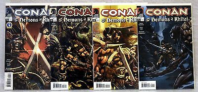 CONAN and the DEMONS OF KHITAI #1-4 (2005) Dark Horse *RECALLED NUDE VARIANT #3*