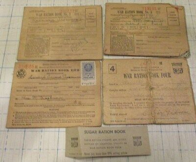 Vintage Ww2 War Ration Books  And Stamps
