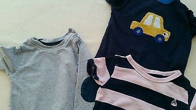 3 tops for baby boy age 9-12