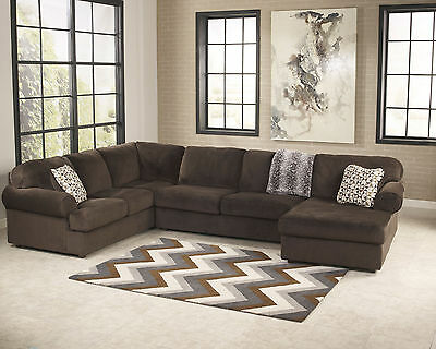 Lakeside - Modern Brown Microfiber Living Room Sofa Couch Chaise